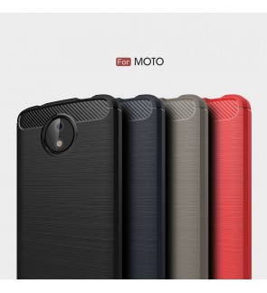 Motorola Moto E4 Plus Brushed Silicone Soft Case Cover Casing