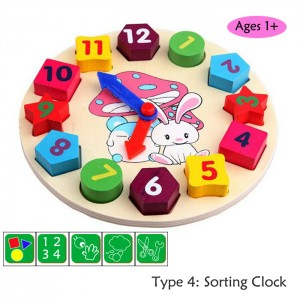 Kids Education Wooden Toy Toys Puzzle Calculation Puzzle Number Train Xylophone