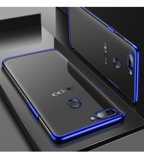 Oppo A3S A7 R17 Pro Oppo F9 TPU Soft Case Cover Casing Housing Electroplate