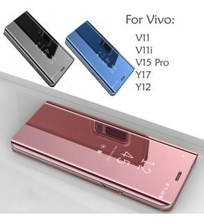 Vivo V11 V11i V15 Pro Y12 Y17 Mirror Flip Pouch Case Cover Casing Housing