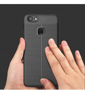Vivo Y91 Y91i Y95 Y81 Y81i TPU Soft Case Cover Casing Dermatoglyph Leather