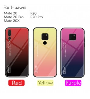 Huawei P20 Pro Mate 20 Pro Mate 20X Case Cover Casing Aurora Tempered Glass