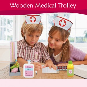 Wooden Toys Toy Medical Trolley Hospital Car Perfect Birthday Gift