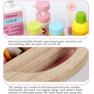 Wooden Toys Toy Medical Box First Aid Perfect Birthday Gift
