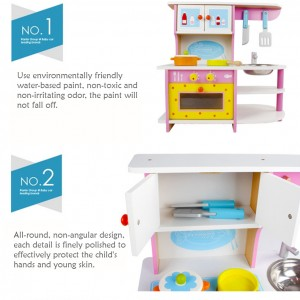 Wooden Toys Toy Kitchen Cooking Stove Set Perfect Birthday Gift Pink Gas Strove