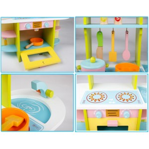 Wooden Toys Toy Kitchen Cooking Set Perfect Birthday Gift – Colorful Hearth
