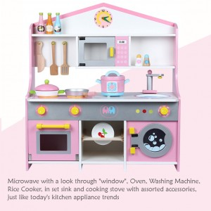 Wooden Toys Toy Kitchen Cooking Stove Set Perfect Birthday Gift Japanese Kitchen