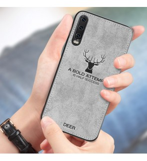Samsung Galaxy A10 A20 A30 A50 M10 Fabric Case Cover Casing Vintage Deer Housing