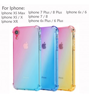 Iphone XS Max X XR Iphone 6 6S Plus 7 8 Plus Casing Case Cover Rainbow