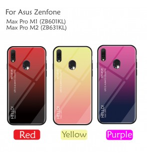 Asus Zenfone Max Pro M1 M2 ZB601KL ZB631KL Case Cover Casing Tempered Glass