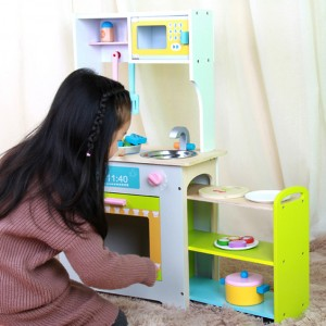 Wooden Toys Toy Kitchen Cooking Stove SetPerfect Birthday Gift – Combination Kitchen