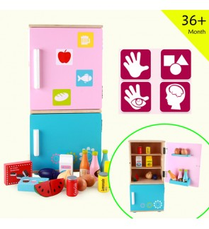Wooden Toys Toy Kitchen Refrigerator Fridge Set Perfect Birthday Gift – Refrigerator