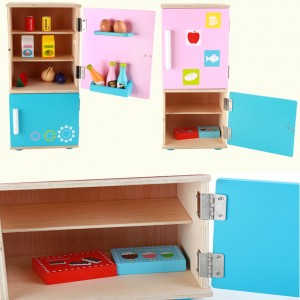 Wooden Toys Toy Kitchen Refrigerator Fridge Set Perfect Birthday Gift – Refrigerator