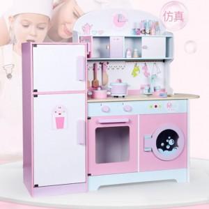 Wooden Toys Toy Kitchen Cooking Stove Refrigerator Fridge SetPerfect Birthday Gift – Refrigerator Kitchen