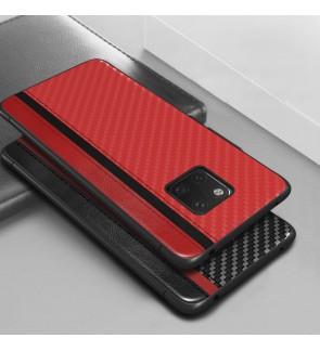 Huawei Mate 20 Pro Mulsae Carbon Fiber Back Case Cover Casing Mobile Phone Soft Silicone TPU Housing