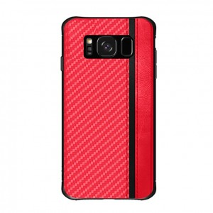 Samsung Galaxy S8 S9 Mulsae Carbon Fiber Back Case Cover Casing Mobile Phone Soft Silicone TPU Housing