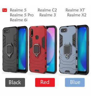 Realme XT Realme 5 5 Pro Realme 3 C2 X2 Pro Realme 6i Car Holder Case Cover Casing Full Protection Housing Stand Housing