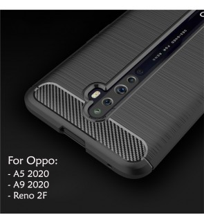 Oppo A9 2020 A5 2020 Reno 2F Reno2 F TPU Silicone Soft Case Cover Casing Brushed Mobile Phone Housing