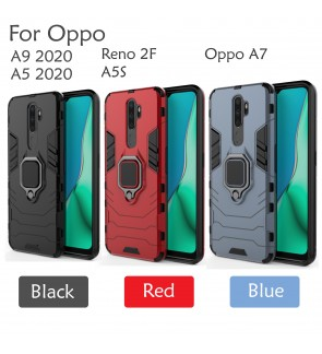 Oppo A5 2020 A9 2020 Reno 2F A5S A7 Car Holder Case Cover Casing Full Protection Stand Back Housing