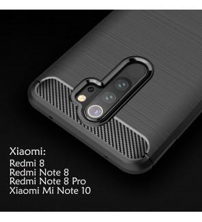 Xiaomi Redmi Note 8 Note 8 Pro Redmi 8 8A Mi Note 10 Pro TPU Silicone Soft Case Cover Casing Brushed Mobile Housing