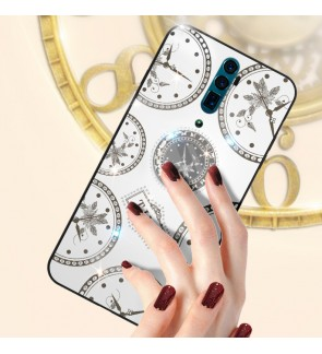 Oppo F11 Pro A5 2020 A9 2020 Reno 2F Reno 10X Zoom Timer Shining Diamond Cover Hard Back Casing Case Housing With I-Ring