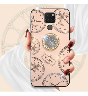 Huawei Mate 20 P20 P20 Pro Timer Shining Diamond Cover Hard Back Casing Case Mobile Phone Lady Housing With I-Ring