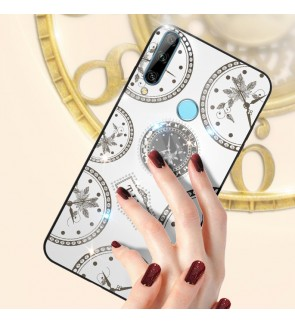Huawei Honor 8X Y9 Prime 2019 Timer Cover Hard Back Casing Case Back Mobile Phone Shinning Housing With I-ring