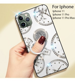 Iphone 11 Iphone 11 Pro Max Timer Shining Diamond Hard Case Cover Casing Back Housing With I-Ring