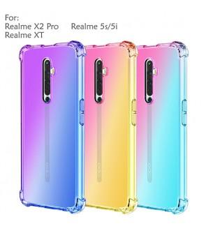 Realme X2 Pro Realme XT Realme 5S Realme 5i Rainbow Anti Shock Soft Casing Case Cover Air Bag Mobile Phone Housing