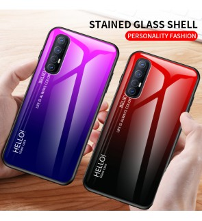 Oppo A31 A91 A92 Reno 3 Pro Oppo A12 A12E Gradient Aurora Case Cover Casing Tempered Glass Housing