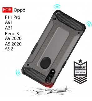 Oppo F11 Pro A9 2020 A5 2020 A91 Reno 3 A31 A92 Rugged Armor Protection Case Cover Hard Casing Shockproof Housing