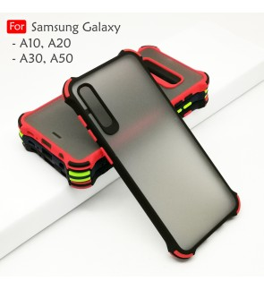 Samsung Galaxy A10 A20 A30 A50 Phantom Shockproof Protection Case Housing Silicone Hard Back Cover Mobile Casing Camera