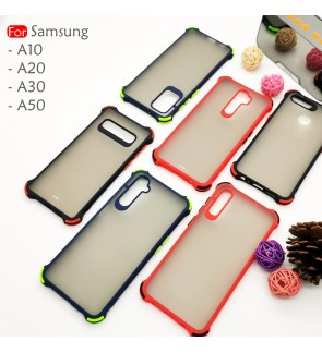 Samsung Galaxy A10 A20 A30 A50 Phantom Shockproof Protection Case Housing Silicone Hard Back Cover Casing Camera