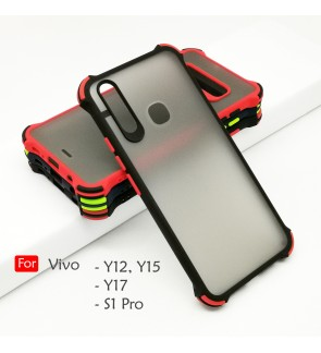 Vivo Y12 Y15 Y17 S1 Pro Phantom Shockproof Protection Case Housing Silicone Hard Back Cover Casing Camera