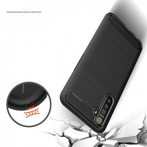 Realme 6 6i 6 Pro C11 C12 Narzo 20 30A Realme X3 Super Zoom TPU Carbon Fiber Silicone Soft Case Cover Casing Brushed