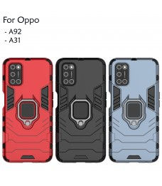 Oppo A92 A31 Case Cover Full Car Holder Back Case Hard Cover Shockproof Protection Casing Housing
