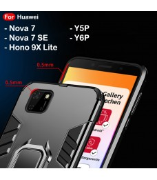 Huawei Nova 7 7SE Y5P Y6P Honor 9X Lite Case Cover Full Car Holder Back Case Cover Shockproof Protection Casing Housing