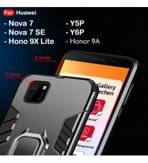 Huawei Nova 7 7SE SE Y5P Y6P Honor 9X Lite Honor 9A Case Car Holder Back Case Cover Shockproof Protection Casing Housing