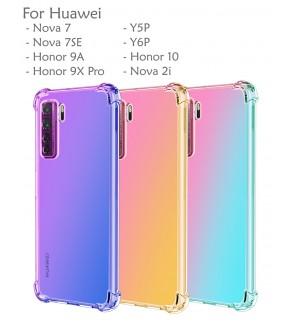 Huawei Nova 7 7SE Y5P Y6P Honor 9X Pro Honor 9A Honor 10 Nova 2i Rainbow Anti Shock Soft Casing Case Cover Air Housing