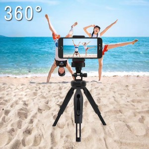 Carristo Mini Tripod Desk Top Adjustable Mobile Phone Holder 360 Angle Small Handy Selfie Stick Must Have Tool For Live