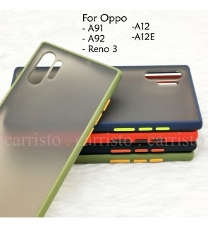 Oppo A91 Reno 3 A12 A12E A92 Phantom Series Back Casing Cover Case Anti Finger Print Surface Colorful Housing