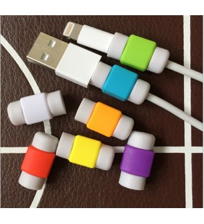 2pcs Colorful Cable Protector For Lightning Micro USB Type-C Cord Saver Charging Data Cable