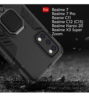 Realme 7 Realme 7 Pro Realme C11 C12 C15 Realme X3 Super Zoom Narzo 20 Car Holder Case Cover Casing Full Protection Housing