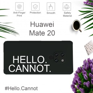 Hello Cannot Case For Huawei P30 Pro Mate 30 P20 Pro Mate 20 Pro Liquid Silicone Cover Casing Back TPU Housing