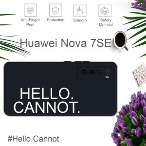 Hello Cannot Case For Huawei P40 P40 Pro Nova 7i Nova 7SE Nova 7 Liquid Silicone Cover Casing Back TPU Housing