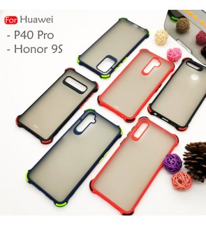 Huawei P40 Pro Huawei Honor 9S Phantom Shockproof Protection Case Housing Silicone Hard Back Cover Casing Camera