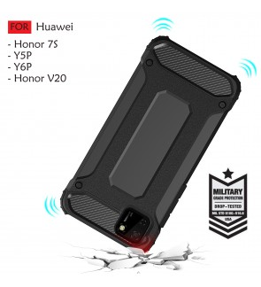 Huawei Honor 7S Y5P Y6P Honor V20 Rugged Armor Protection Case Cover Hard Casing Shockproof Housing