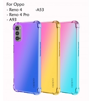 Oppo Reno 4 Reno 4 Pro Oppo A53 A93 Rainbow Antishock Soft Casing Case Cover Air Bag Back Housing