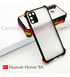 Huawei Honor 9A Phantom Shockproof Protection Case Housing Silicone Hard Back Cover Casing Camera