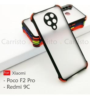 Xioami Redmi 9C Pocophone F2 Pro Poco Phantom Shockproof Protection Case Housing Silicone Hard Back Cover Casing Camera